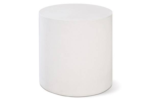 501FT025P2W Perpetual Bill Ivory White Accent Table