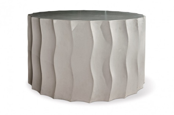 501FT052P2GM Perpetual Wave Wide Slate Gray Accent Table