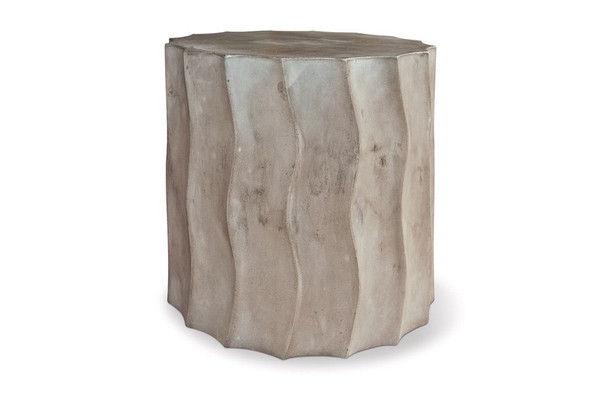 501FT052P2GS Perpetual Wave Short Slate Gray Accent Table