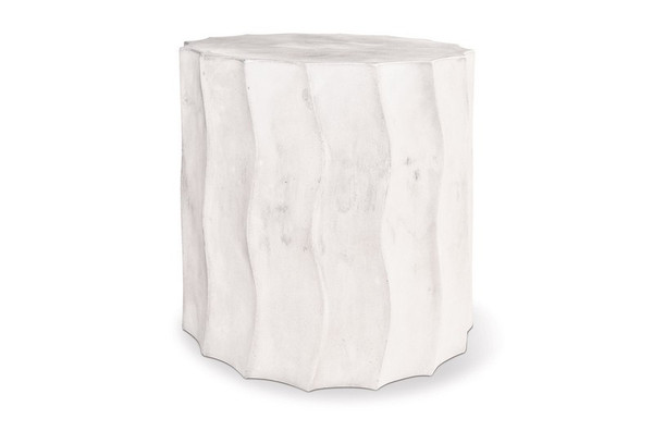501FT052P2WS Perpetual Wave Short Ivory White Accent Table