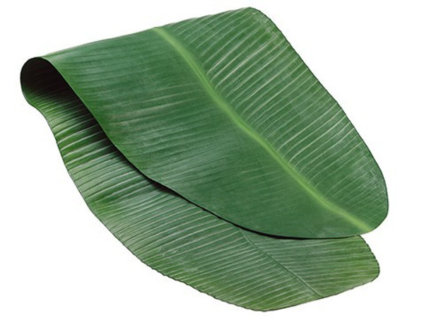 "48""W X 17.5""L Banana Leaf TableRunnerGreen 6 Pieces AA8804-GR"