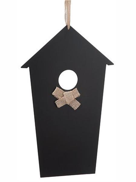 "18"" Hanging Chalkboard BirdHouseBlack 6 Pieces AAE760-BK"