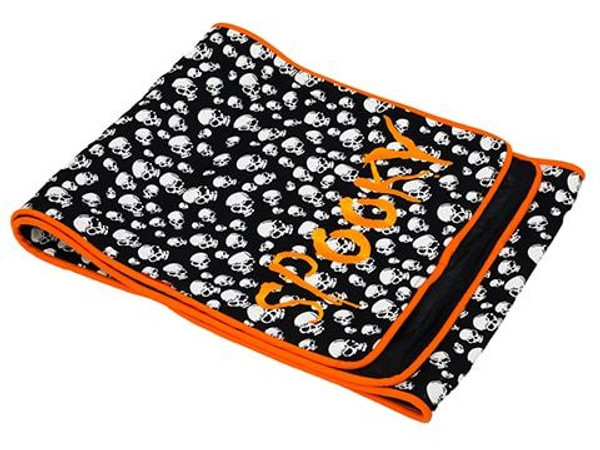 """14""""W X 72""""L Spooky HalloweenTable RunnerBlack Orange 24 Pieces AAF020-BK/OR"""