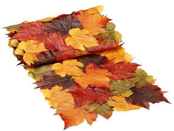 """14""""W X 72""""L Maple Leaf TableRunnerFall 12 Pieces AAF983-FA"""