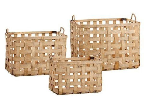 "10.5""H-14""H Basket (3 Ea/Set) Natural Brown ACB610-NA/BR"