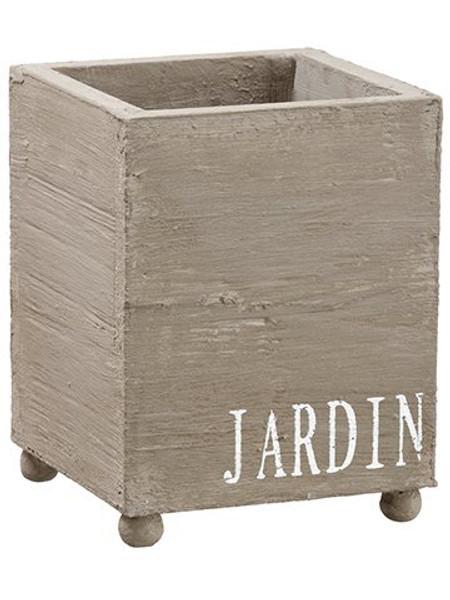 """6.5""""H X 5""""W X 5""""L Garden Wood Box Gray 12 Pieces ACW027-GY"""