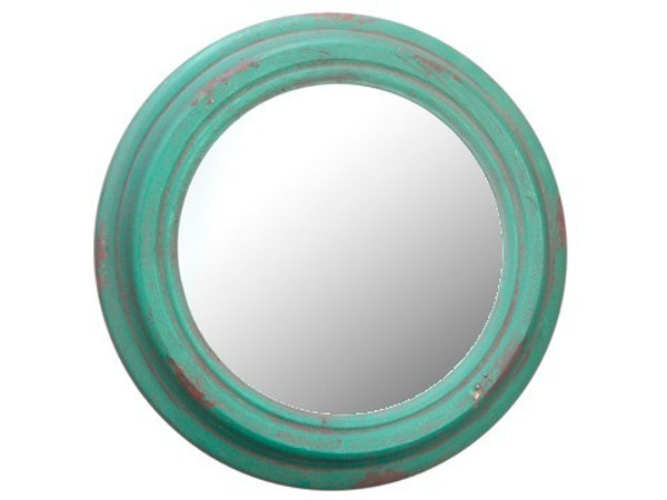 "13"" Metal Mirror Antique Green 4 Pieces AF0125-GR/AT"
