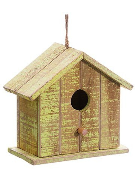 """8.75"""" Birdhouse Yellow Brown 4 Pieces AG3638-YE/BR"""