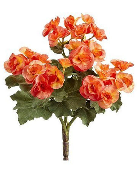 "10"" Begonia Bush X3 Orange 12 Pieces FBB841-OR"