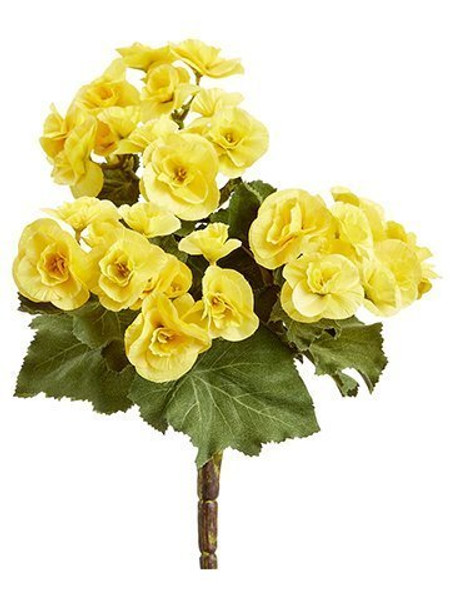 "10"" Begonia Bush X3 Yellow 12 Pieces FBB841-YE"