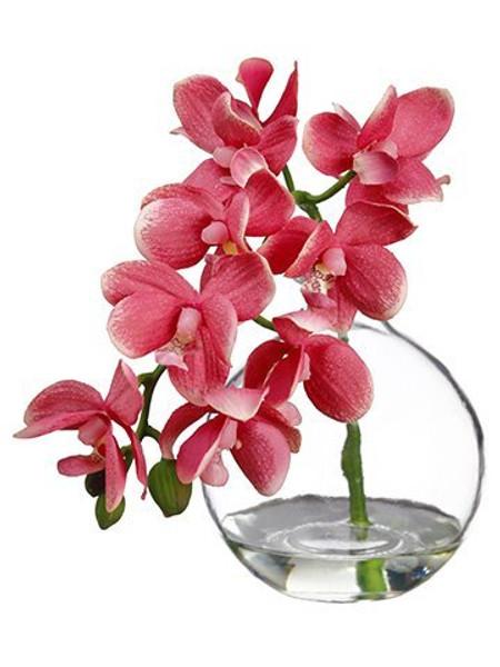 "10"" Phalaenopsis Orchid InGlass VasePink 8 Pieces LFO956-PK"