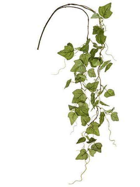 "35"" Ivy Leaf Hanging Spray Green 12 Pieces PSI798-GR"