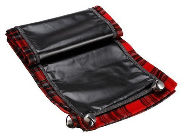 "14""W X 72""L Plaid Chalkboard Fabric Table Runner Red Black 4 Pieces XAK643-RE/BK"