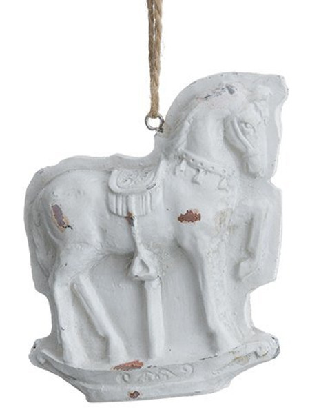 "3.5""H X 3.2""W Horse Chocolate Mold Ornament Beige 12 Pieces XN3142-BE"