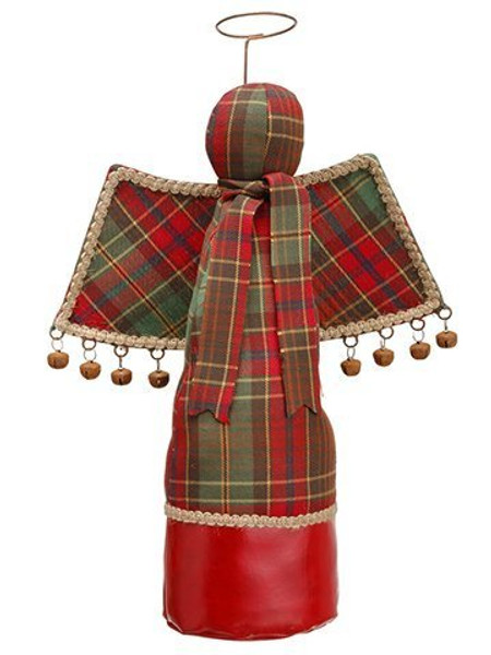 """16"""" Plaid Angel Red Green 2 Pieces XSA305-RE/GR"""