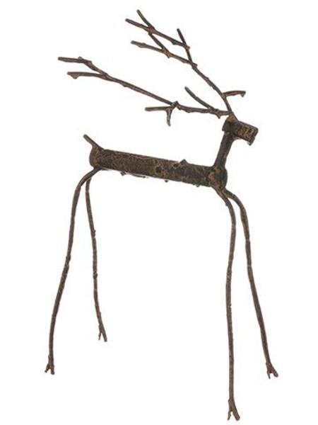 "14"" Reindeer Brown 4 Pieces XSE374-BR"