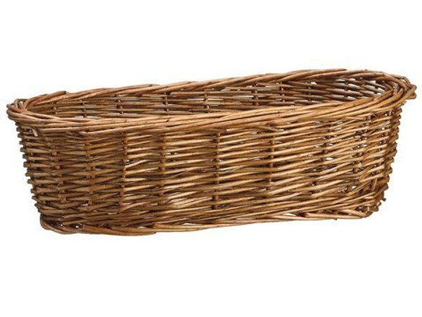 "12"" Willow Bread Basket Brown ZAC480-BR"