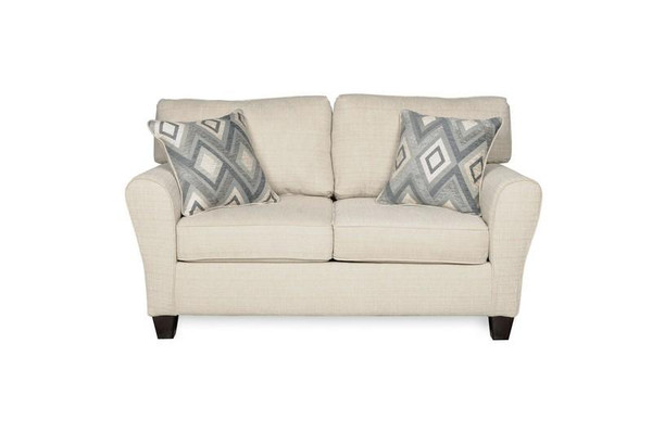1660S-10-SFB222-20612 Sofab Madison Dynasty Cream Love Seat With Accent Pillows