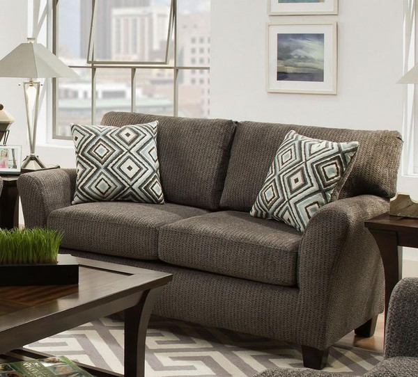 1689S-10-SFB222-28816 Sofab Fifth Avenue Pebble Love Seat With Accent Pillows