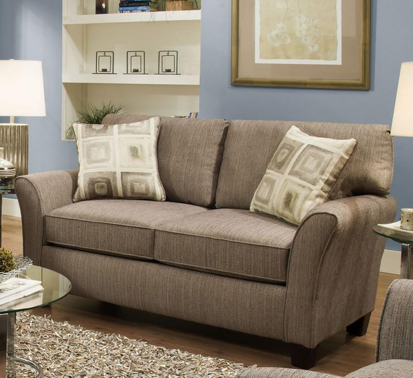 1698S-10-SFB222-30692 Sofab Callie Essence Pewter Love Seat With Accent Pillows