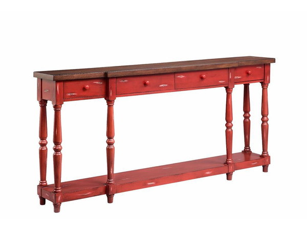 Stein World Red Simpson Console Table 13135