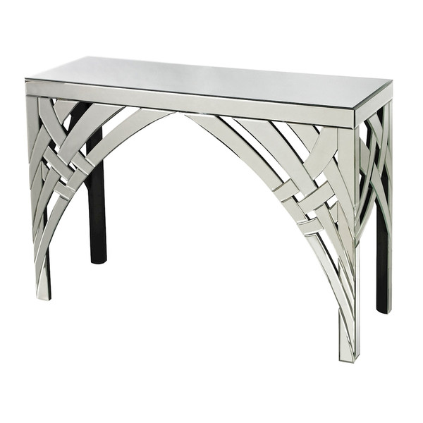 Arched Ribbons Mirrored Console 114-64 BY Sterling