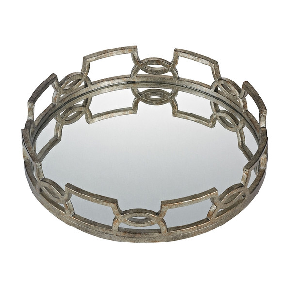 Hucknall Iron Scroll Mirrored Tray - Large 114-89 BY Sterling