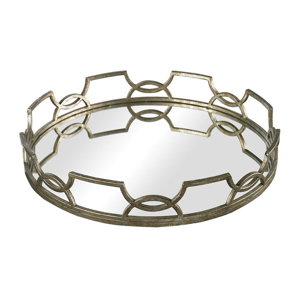 Hucknall Iron Scroll Mirrored Tray - Small 114-90 BY Sterling