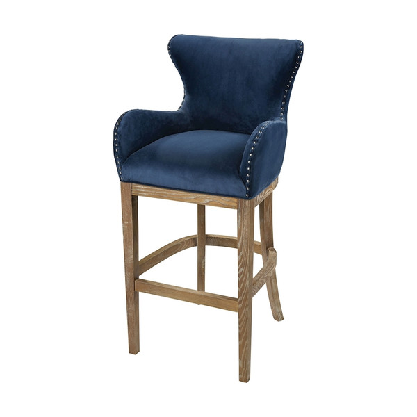 Roxie Navy Bar Chair 1204-030 BY Sterling