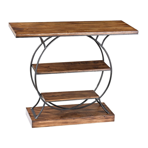 Wood And Metal Console 138-113 BY Sterling