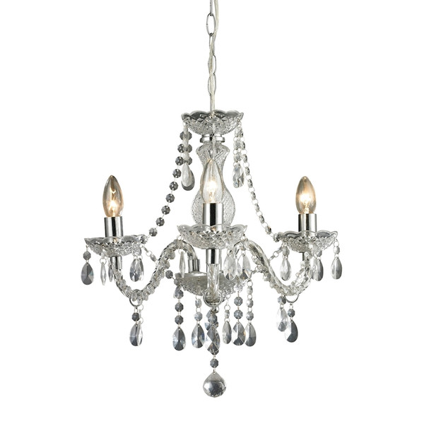 Theatre 3 Light Mini Chandelier In Clear 144-015 BY Sterling