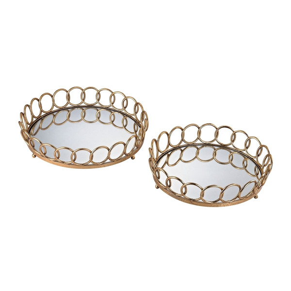 Loop Mirrored Trays 3200-042/S2 BY Sterling