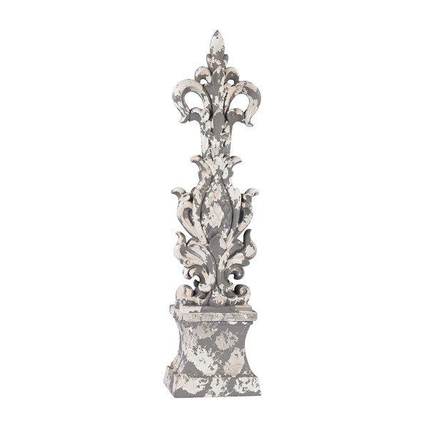 Aged Plaster Scroll Finial 387-010 BY Sterling