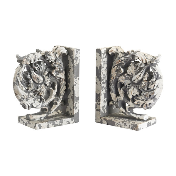 Aged Plaster Scroll Bookends 387-014/S2 BY Sterling