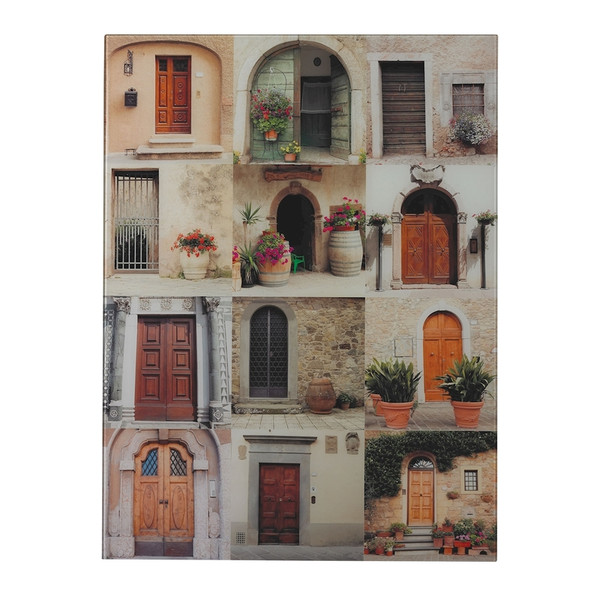Door Collage Photography Printed On Glass 51-10125 BY Sterling
