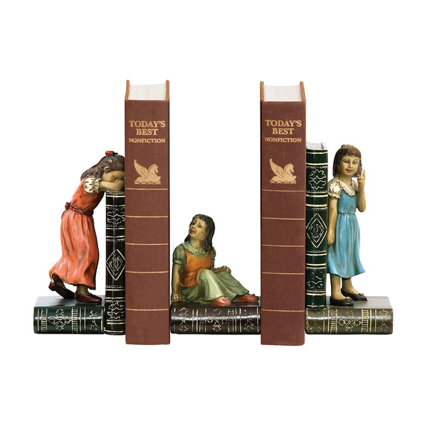 Child Games Bookends - Pair 91-2448 BY Sterling