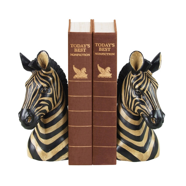 Zebra Bookends - Pair 93-1220 BY Sterling