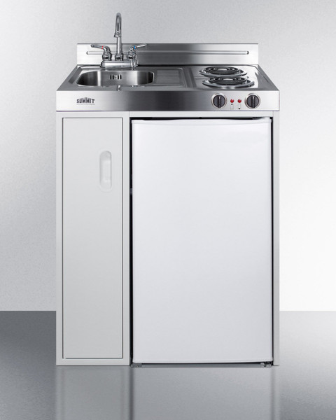 C30ELGLASS 30 Inch Wide All-In-One Kitchenette By Summit Appliances