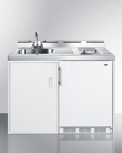 "C48ELGLASS 48"" Wide All-In-One Kitchenette By Summit Appliances"