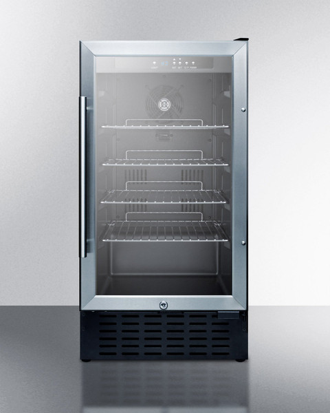 """SCR1841B 18"""" Wide Glass Door Refrigerator For Built-In Or Freestanding Use"""