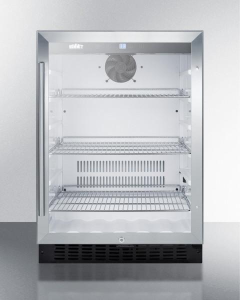 SCR2464 Built-In Undercounter Glass Door Beverage Refrigerator