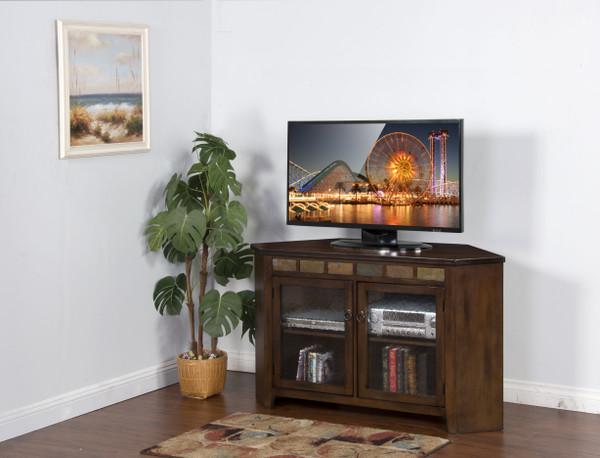 Sunny Designs Santa Fe Corner Tv Console 3399DC