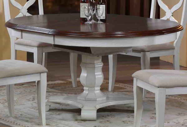 Andrews Butterfly Leaf Dining Table - White/Chestnut DLU-ADW4866-AW