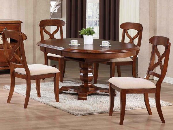 5-Piece Andrews Butterfly Leaf Dining Set - Chestnut DLU-ADW4866-C12-CT5PC