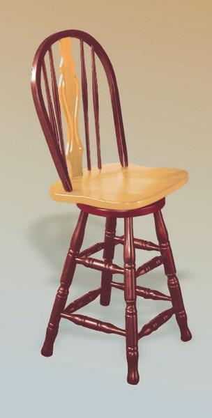 """24"""" Keyhole Barstool In Nutmeg Light Oak With Light Oak Accents"""