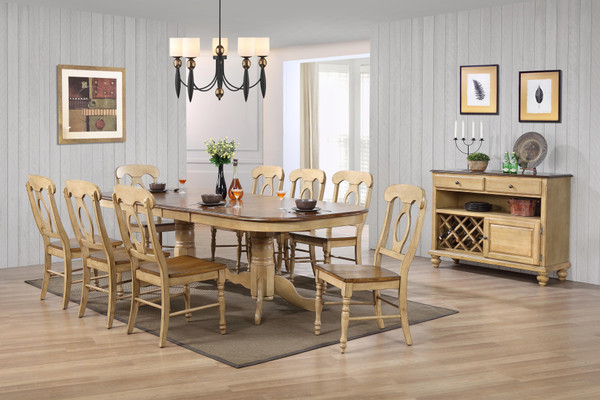 10 Piece Brook Double Pedestal Extension Dining Set With Server