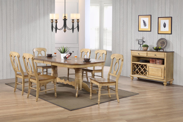 8 Piece Brook Double Pedestal Extension Dining Set With Server