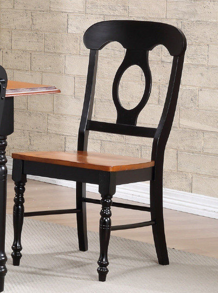 Napoleon Dining Chair In Antique Black And Cherry (Set Of 2)