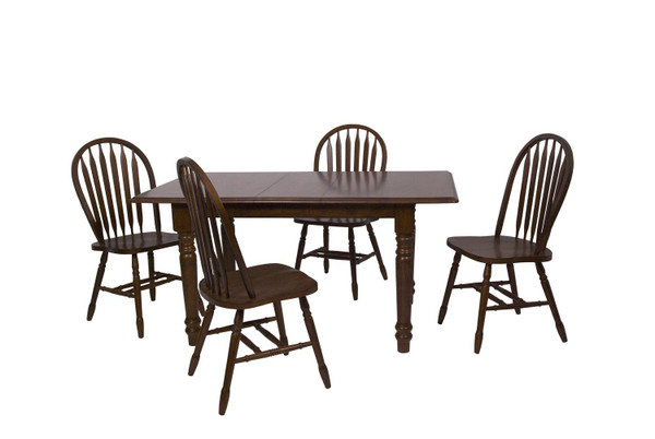 Andrews 5-Piece Butterfly Dining Set - Chestnut DLU-TLB3660-820-CT5PC