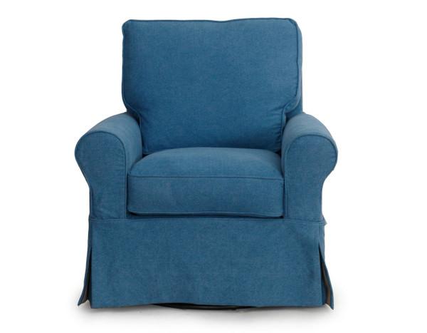 Horizon Swivel Chair - Slip Cover Set Only - Indigo Blue